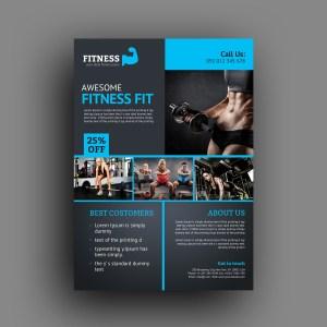 Creative Fitness Center Flyer Template