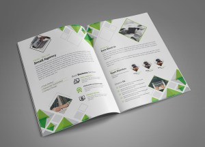 Diamond Modern Bi-Fold Brochure Template