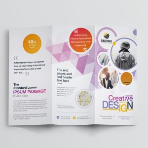 Diamond Professional Corporate Tri-Fold Brochure Template