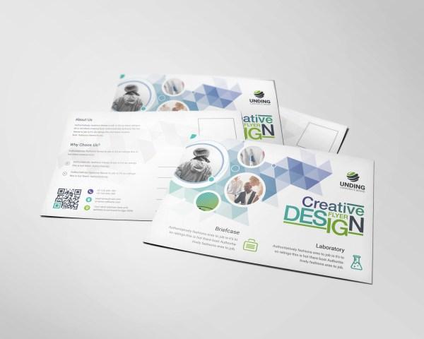 Diamond Professional Elegant Postcard Template