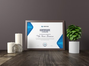 Elegant Corporate Certificate Template