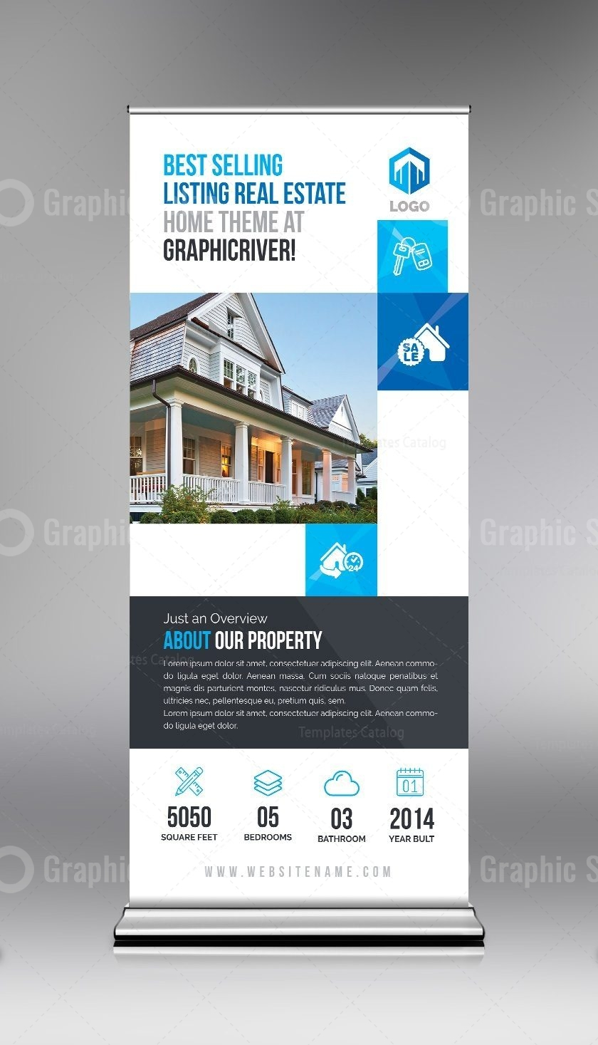 Elegant Real Estate Roll Up Banner Template Graphic Templates