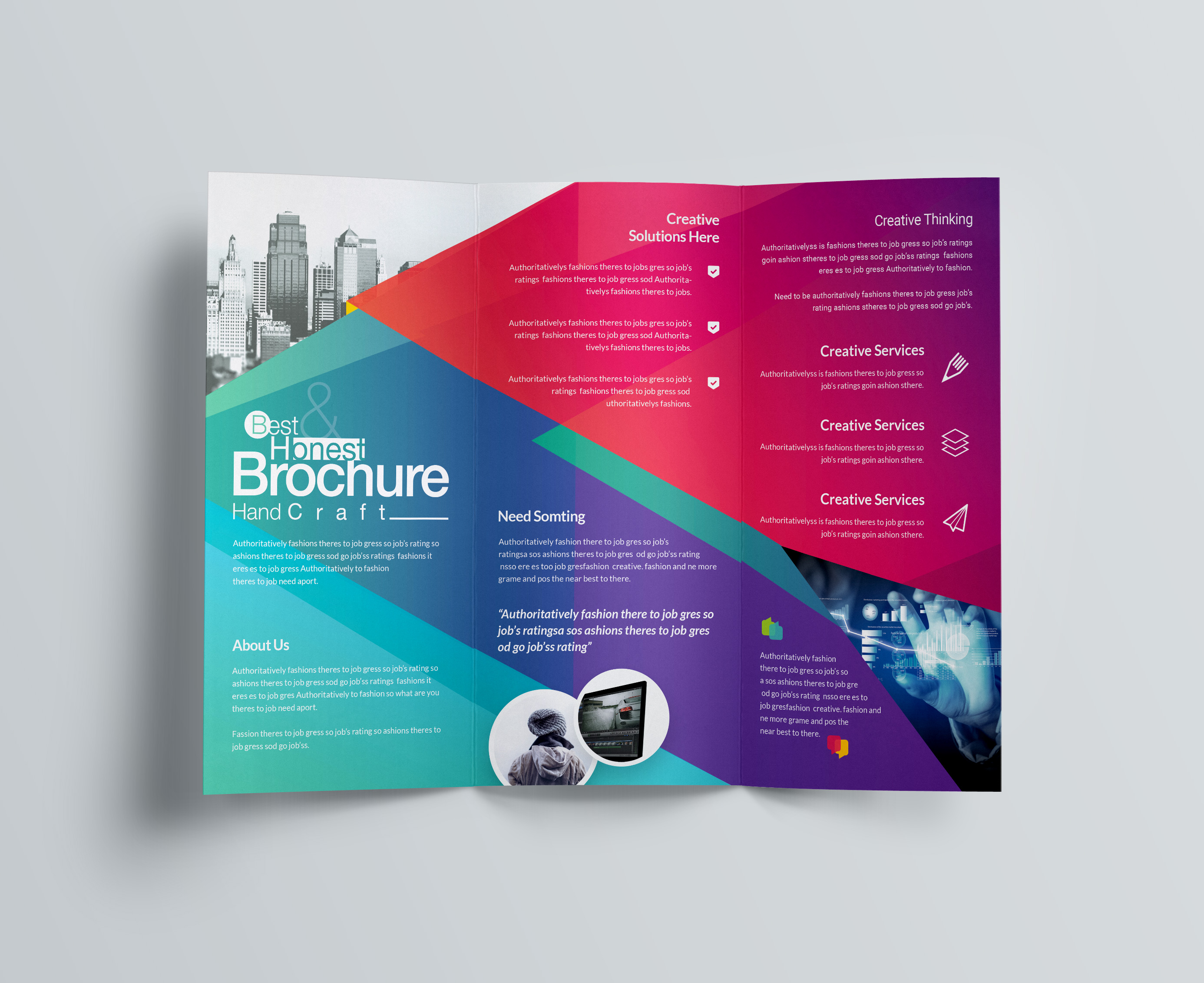2 Page Brochure >> Excellent Professional Corporate Tri Fold Brochure Template
