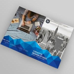 Genesis Stylish Bi-Fold Brochure Template