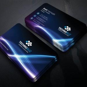 Glittery Creative Corporate Business Card Template