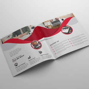 Godlike Corporate Square Bi-Fold Brochure Template