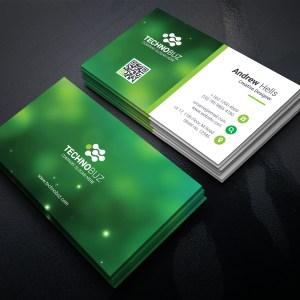 Green Technology Business Card Template