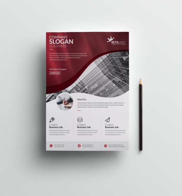 Halley Elegant Professional Business Flyer Template