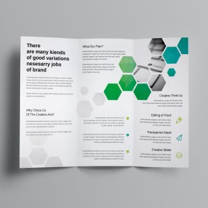 Hexagon Corporate Tri-Fold Brochure Template