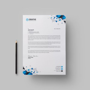 Kapkan Professional Corporate Letterhead Template