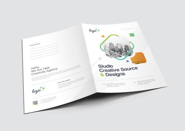Logic Creative Stylish Presentation Folder Template