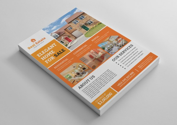 Luxury Real Estate Flyer Template