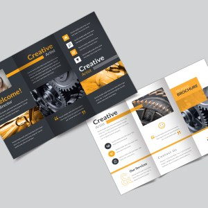 Master Corporate Creative Tri-fold Brochure