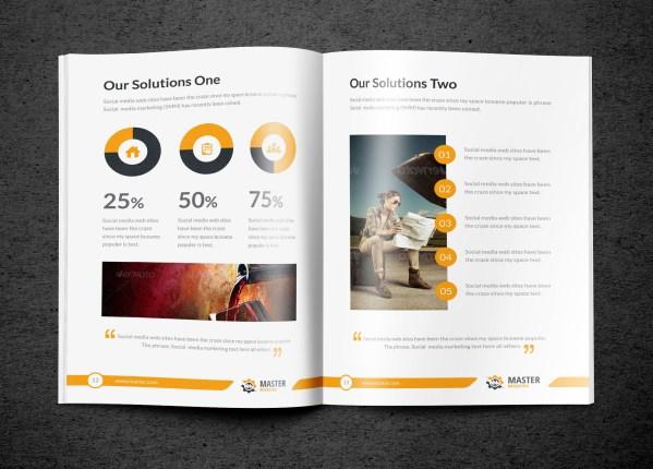Master Premium Business Bi-Fold Brochure Template