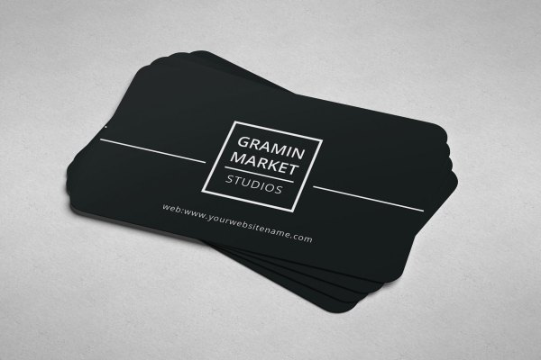 Minimal Manager Business Card Design