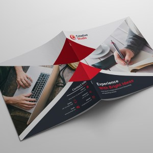 Modern Creative Corporate Bi-Fold Brochure Template