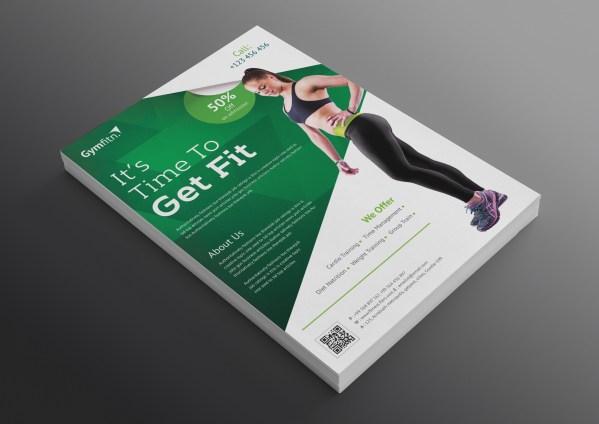 Modern Professional Fitness Center Flyer Template