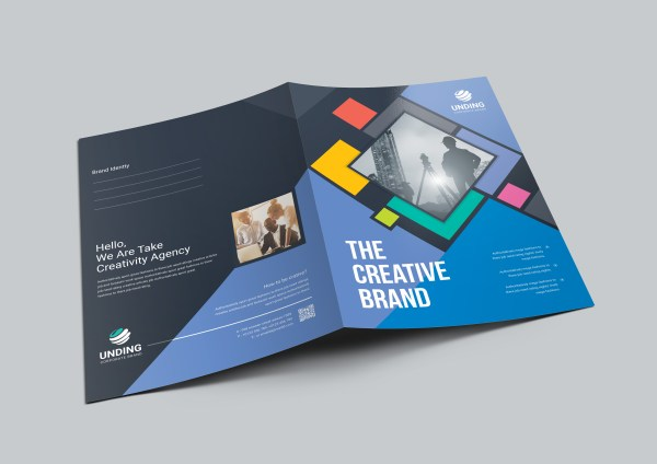 Neptune Professional Corporate Presentation Folder Template