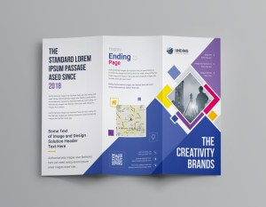 Neptune Professional Corporate Tri-Fold Brochure Template