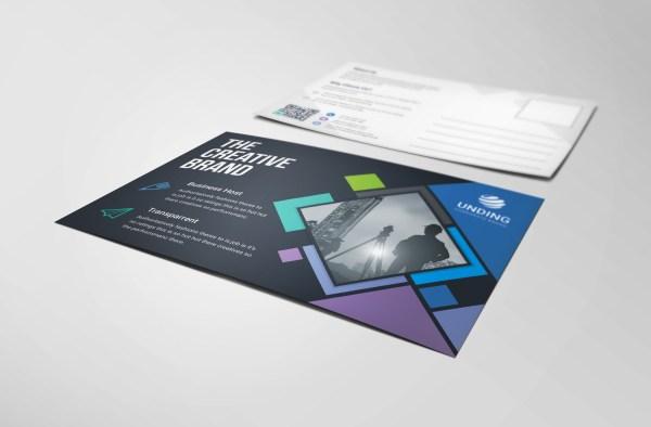 Neptune Professional Stylish Postcard Template