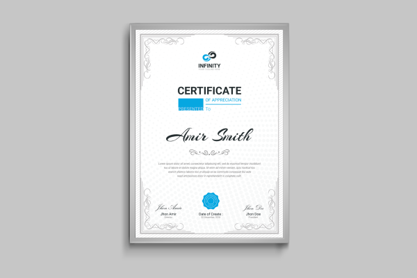 Ornament Professional Certificate Template