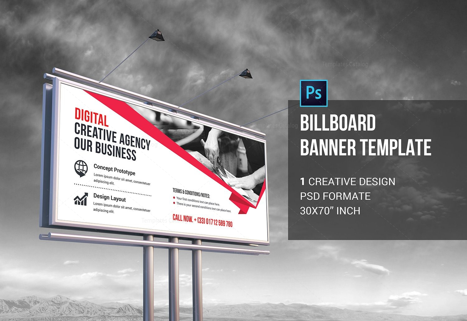 Psd Billboard Banner Template Graphic Templates