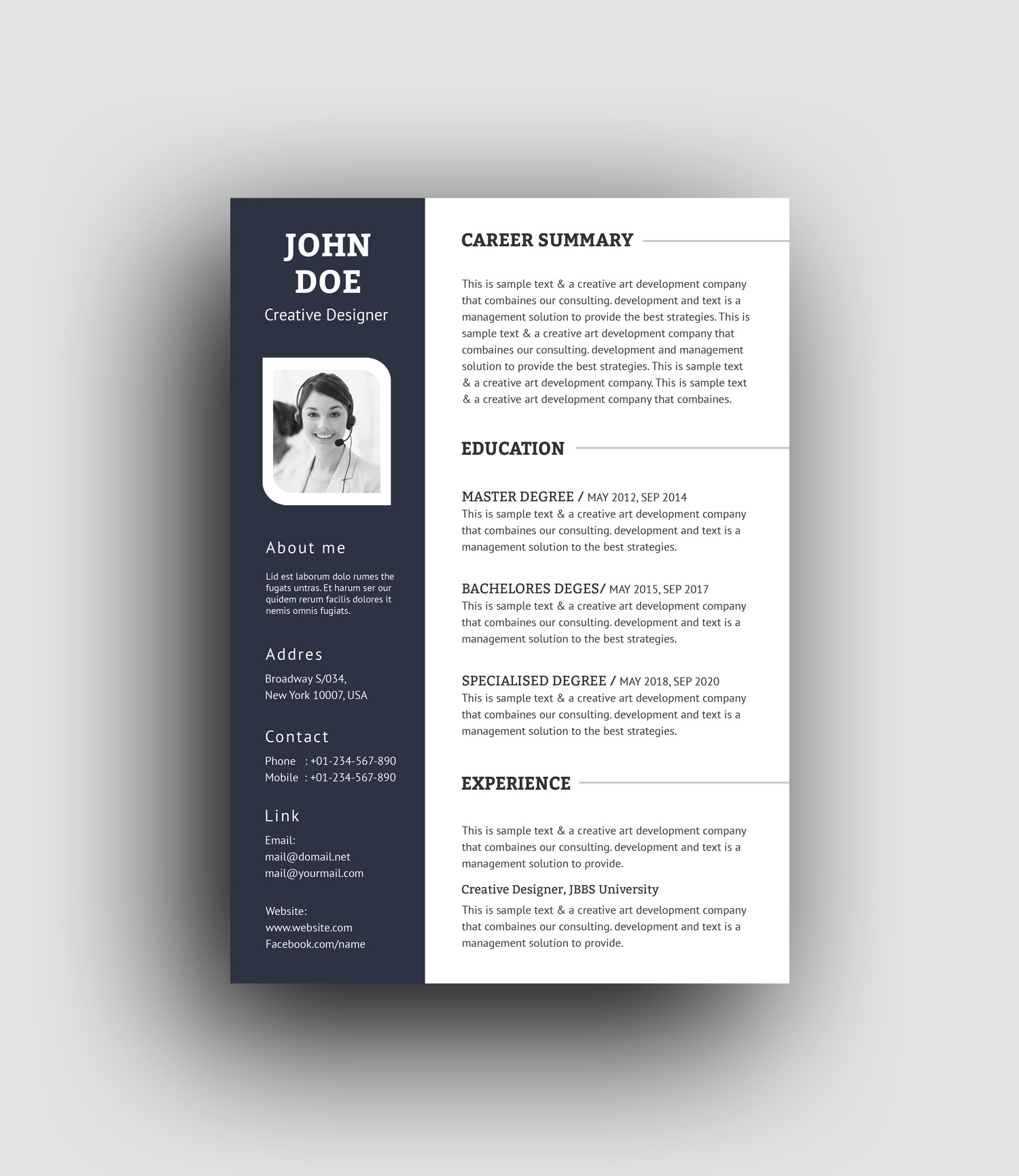 Psd Resume Template.Psd Elegant Professional Resume Template Graphic Templates