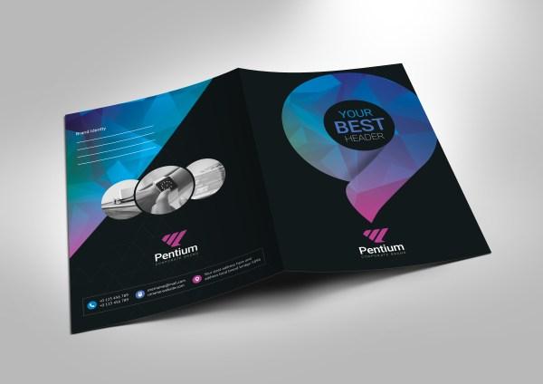 Polaris Sleek Corporate Presentation Folder Template