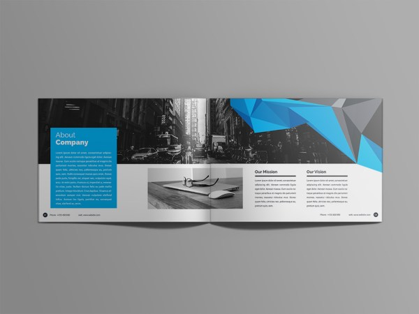 Poseidon 24 Pages Professional Landscape Magazine Template