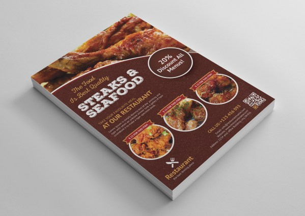 Premium Restaurant Flyer Template