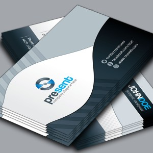 Present Elegant Corporate Business Card Template
