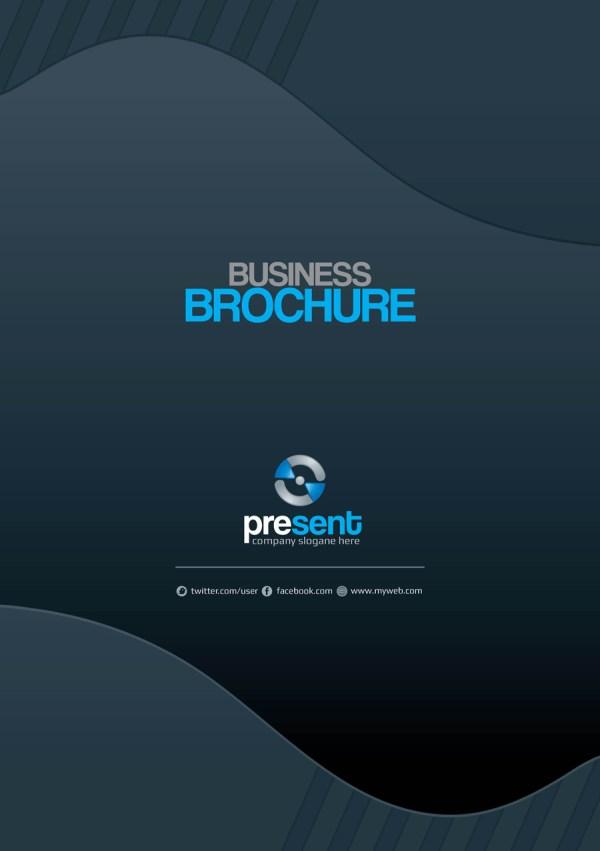 Present Premium Business Bi-Fold Brochure Template