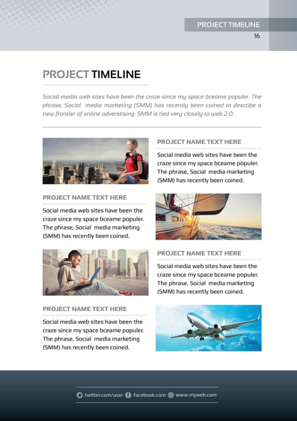 Present Premium Business Bi-Fold Proposal Template