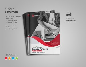 Professional Business Bi-Fold Brochure Template