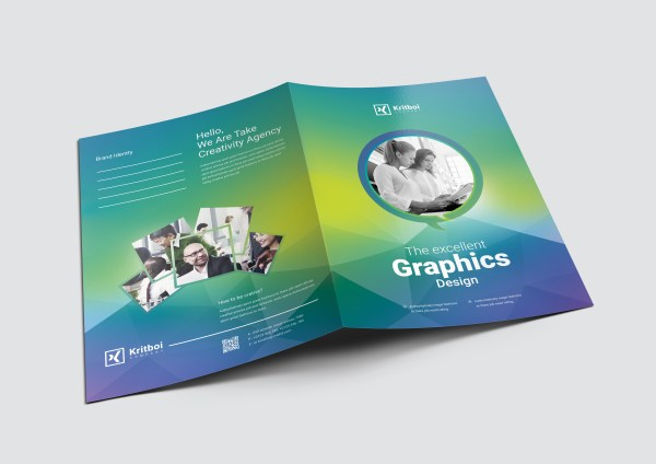 Professional Corporate Presentation Folder Template