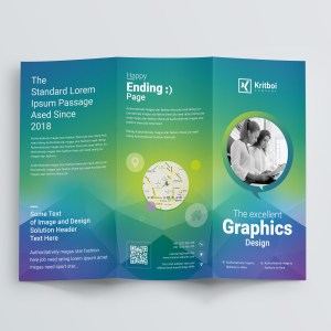 Professional Corporate Tri-Fold Brochure Template