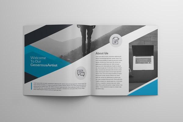 16 Pages Professional Premium Square Magazine Template
