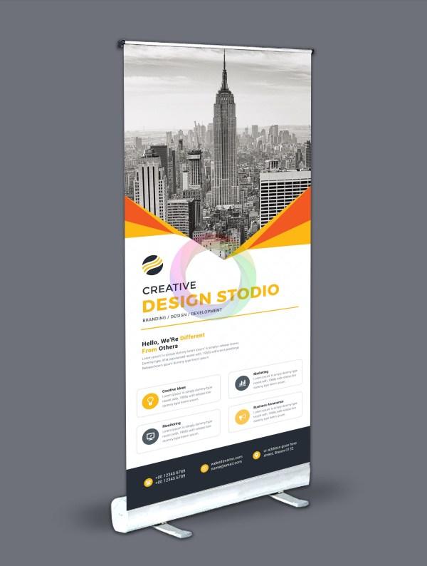 Roll-Up Banner Design Template Bundle