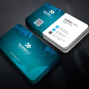 Space Technology Business Card Template