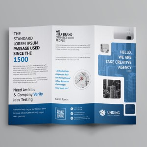 Stunning Corporate Tri-Fold Brochure Template