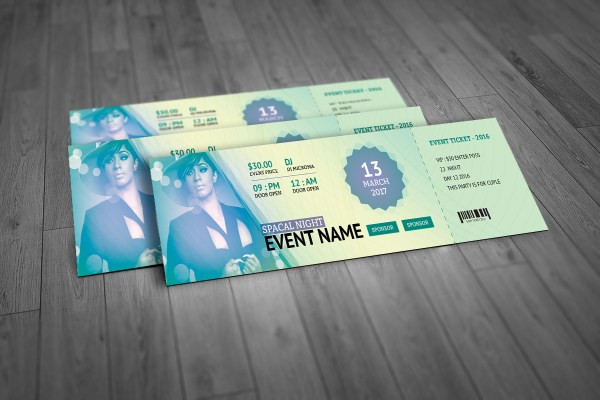 Stylish Event Ticket Template