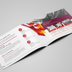 Stylish Professional 16 Pages Landscape Magazine Template