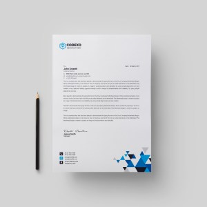 Triangle Professional Corporate Letterhead Template