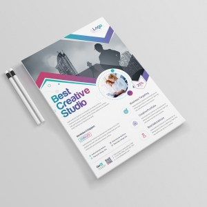 Vega Elegant Professional Business Flyer Template