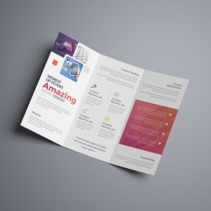 Vega Professional Corporate Tri-Fold Brochure Template