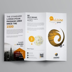 Venus Corporate Tri-Fold Brochure Template