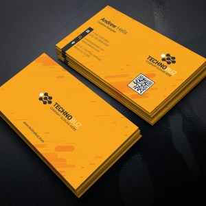 Yellow Corporate Business Card Template