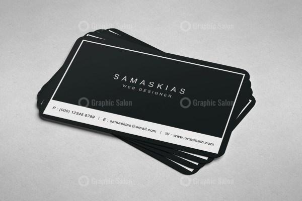 Pink Minimal Business Card