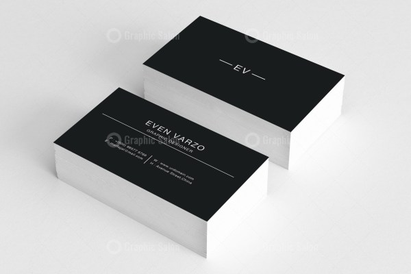 Black White Business Card Templates 2
