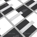 Checkered Visiting Card Templates 4